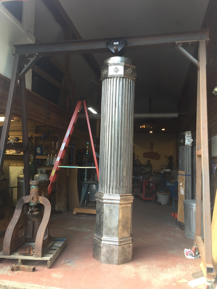 One of two custom fabricated columns we made for a Philadelphia home